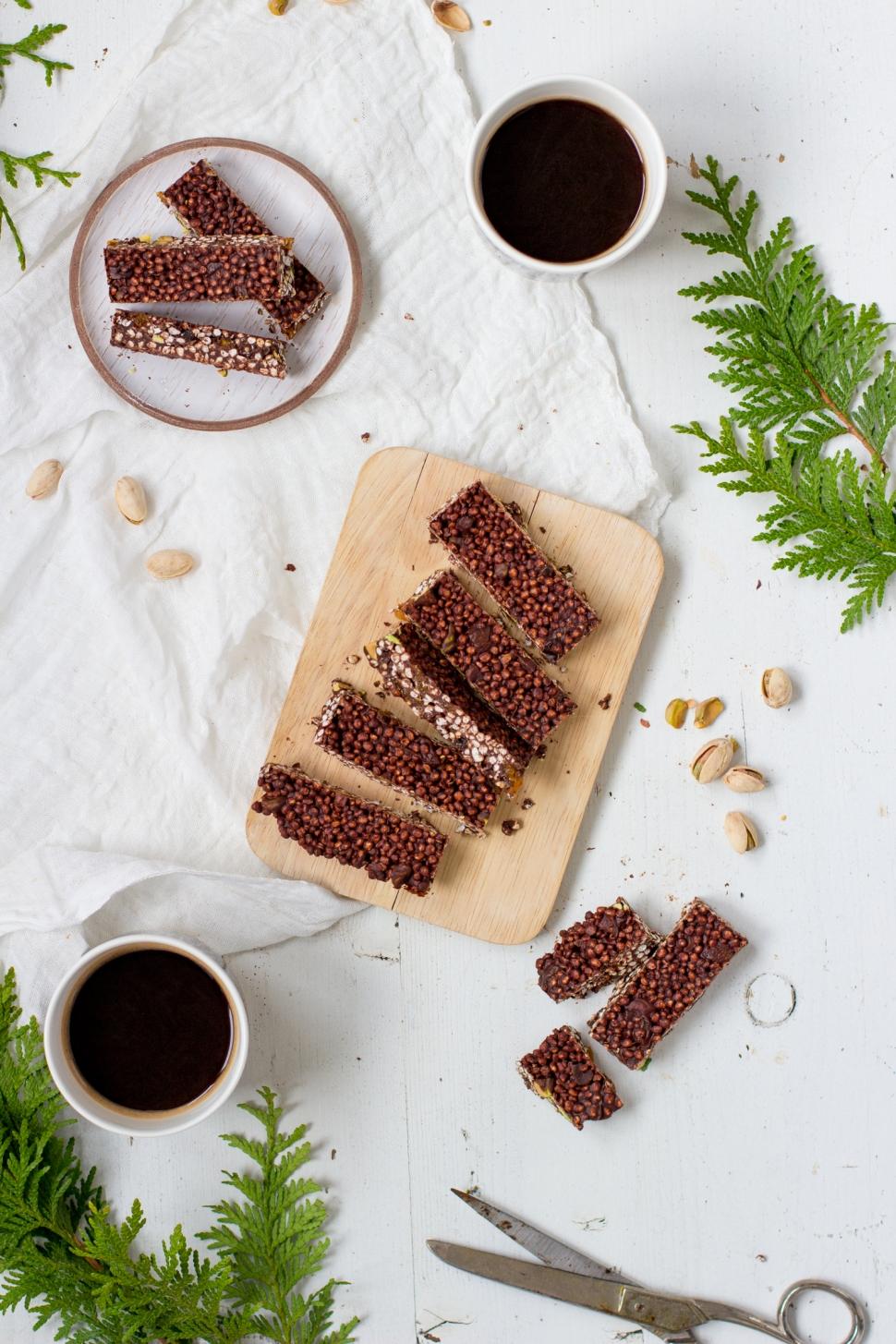 Suklaa-quinoapalat